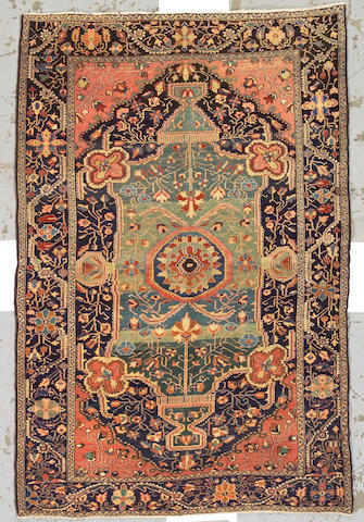 A Fereghan Sarouk rug Central Persia, size approximately 4ft. 5in. x 6ft. 7in.