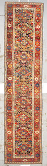 A Kurdish runner Northwest Persia, size approximately 3ft. 6in. x 15ft. 1in.