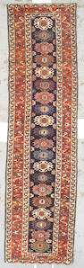 A Kurdish runner Northwest Persia, size approximately 3ft. 3in. x 12ft. 4in.