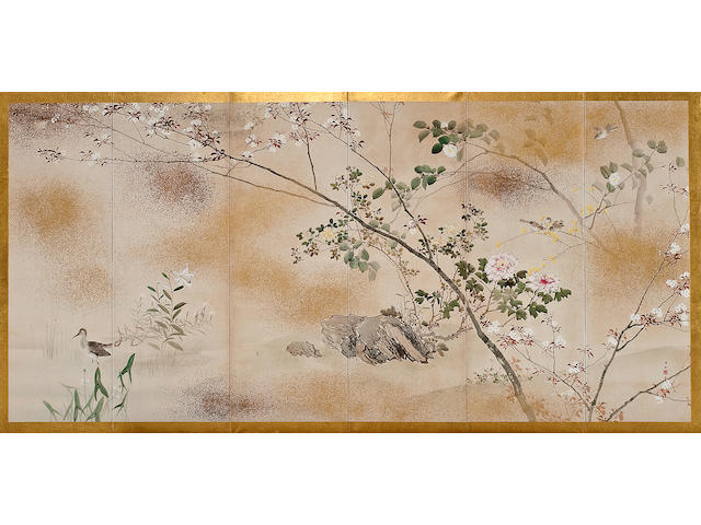 Kishi Chikudo (1826-1897)<br>Birds and Flowers of the Four Seasons