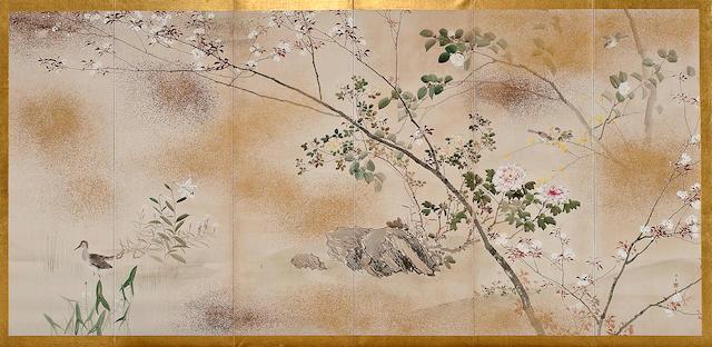 Kishi Chikudo (1826-1897) Birds and Flowers of the Four Seasons