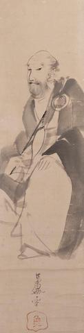 Nagasawa Rosetsu (1754-1799) Portrait of Eisai