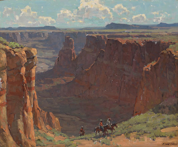 Edgar Payne (1883-1947) 'Blue Canyon' 28 x 34in