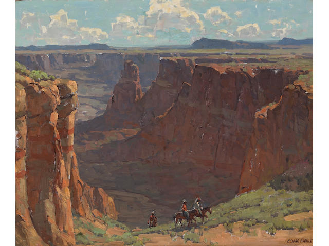 Edgar Payne (1883-1947) 'Blue Canyon' 28 x 34in