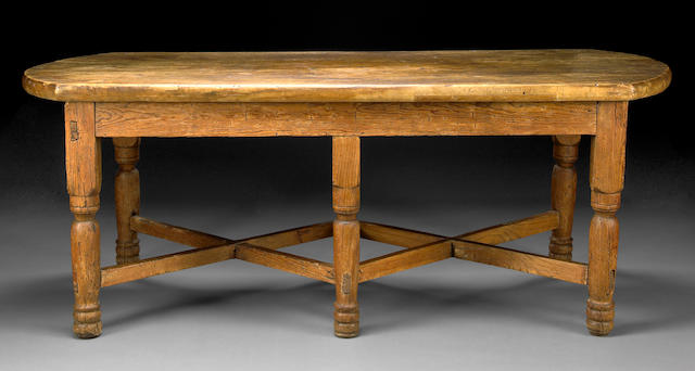 A Spanish Baroque walnut and pine center table