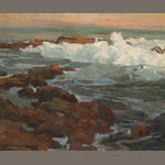 Edgar Payne (1883-1947) Waves breaking along a rocky coast 20 x 24in