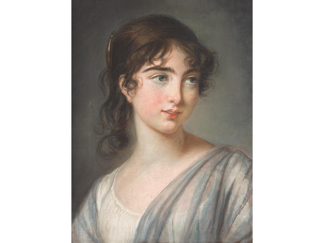 Elisabeth Louise Vigée Le Brun (French, 1755-1842) A portrait of Corisande de Gramont, Countess of Tankerville 18 x 13 1/4in (45.8 x 33.6cm)