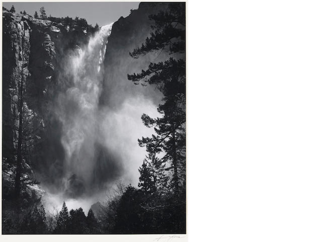 Ansel Adams (American, 1902-1984); Bridalveil Fall;