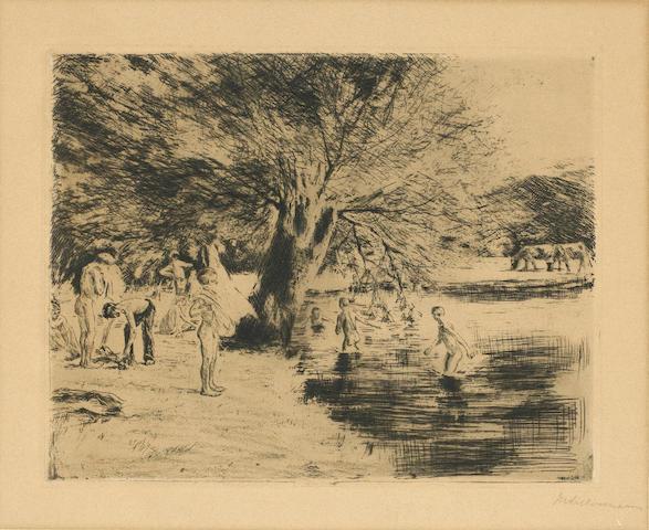 Max Liebermann (German, 1847-1935); Badende Knaben;