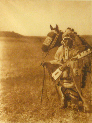 Edward S. Curtis (American, 1868-1952); The Chief- Assiniboin, from The North American Indian;