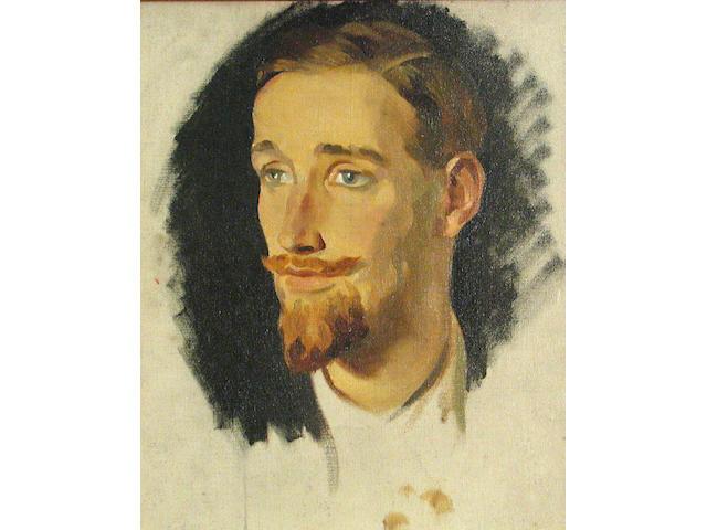 Glyn Warren Philpot (British, 1884-1937) A portrait of Gerald Heard sight 14 x 11 1/2in