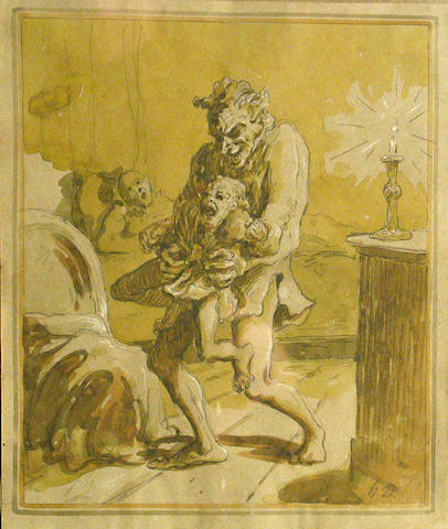Daumier Time for bed 10 x 8 1/2in
