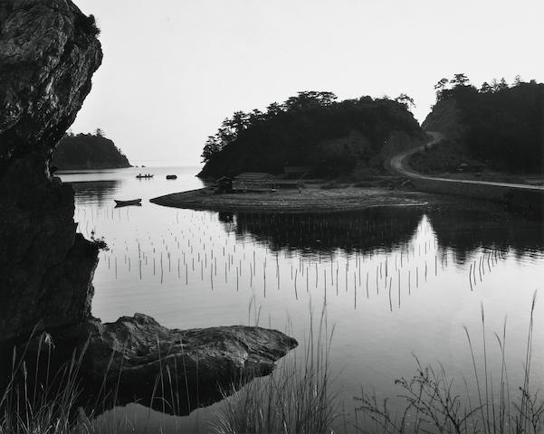 Brett Weston (American, 1911-1993); Bay with Fishing Wires, from Fifteen Photographs of Japan;