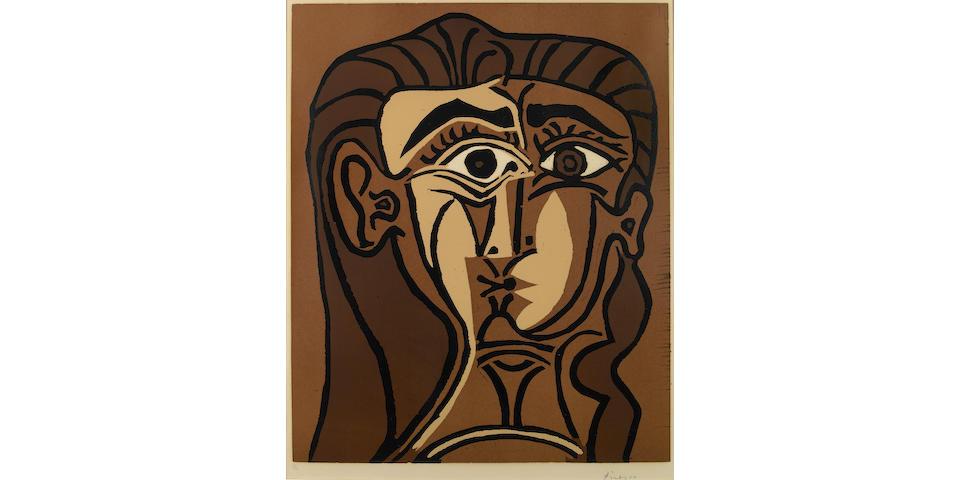 Pablo Picasso (Spanish, 1881-1973); Tête de Femme;