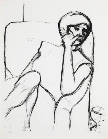 Richard Diebenkorn (American, 1922-1993); Woman Seated in an Armchair;