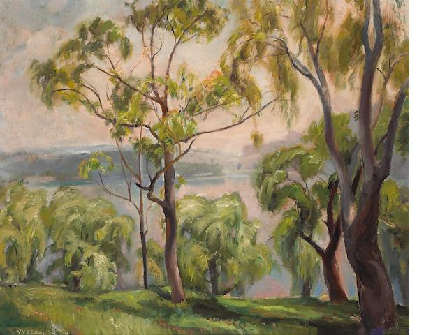 Edouard Vysekal (American, 1890-1939) Above Silverlake, 1939 25 x 30in