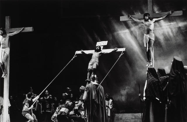 Helmut Newton (German, 1920-2004); Christ on the Cross;