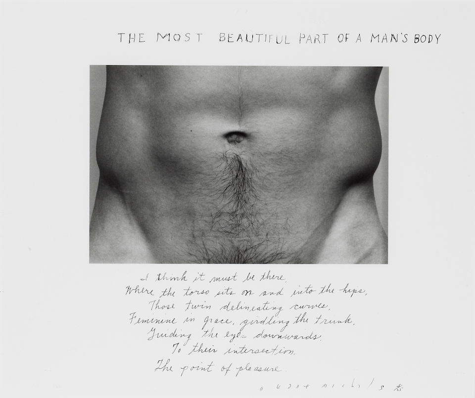 Duane Michals (American, born 1932); All Things Mellow in the Mind; The Most Beautiful Part of a Man's Body; (2)