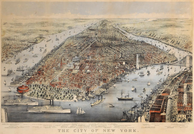 Currier & Ives  (Publishers) (American); The City of New York;