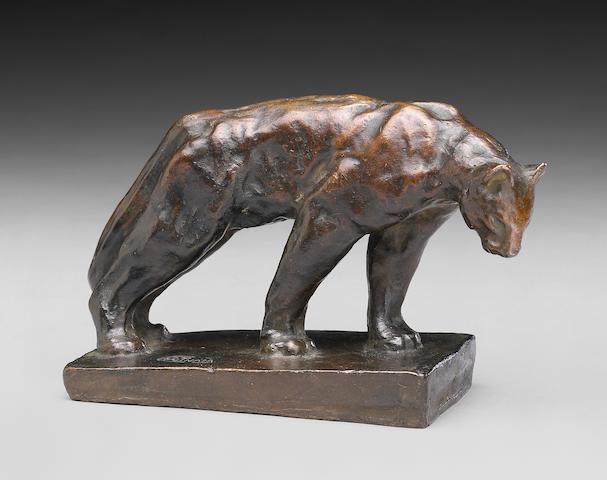 Arthur Putnam (American, 1873-1930) Standing Puma 4 x 7in