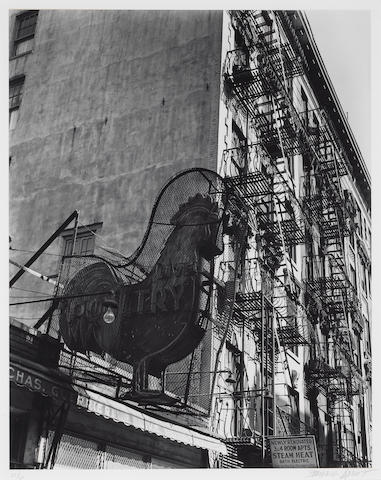 Berenice Abbott (American, 1898-1991); Poultry Shop, East 7th Street, New York;