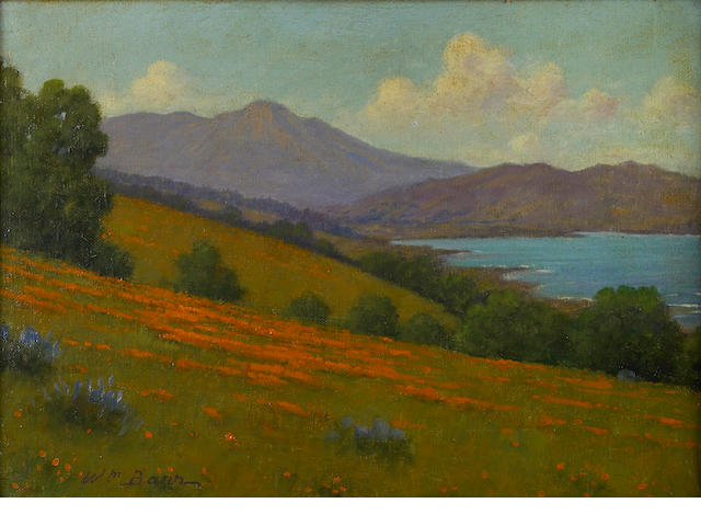 William Barr (British/American, 1867-1933) 'Mount Tamalpais and San Francisco Bay' 10 1/4 x 14 1/4in