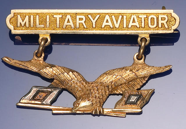 A U.S. Military Aviator's Badge, 1913 pattern, by Rock Island Arsenal