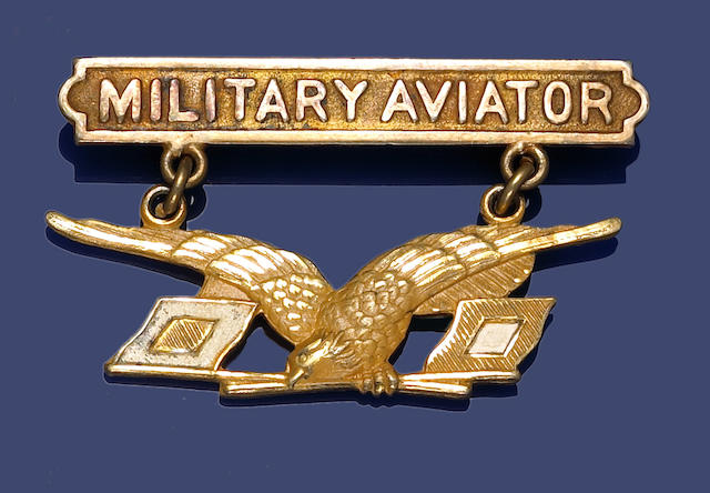 Bonhams : A U S  Military Aviator's badge, 1913 pattern, by