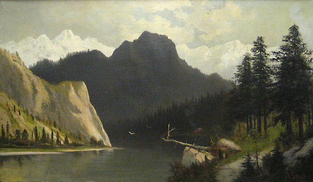 Frederich Schafer (American, 1839-1927) Bear Lake in the Wasatch Mountains, Utah 30 x 50in