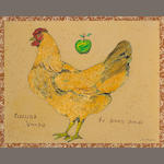 Ira Yeager (American, born 1938) Old Hens Make Good Broth 23 3/4 x 29 3/4in (60 x 75cm)