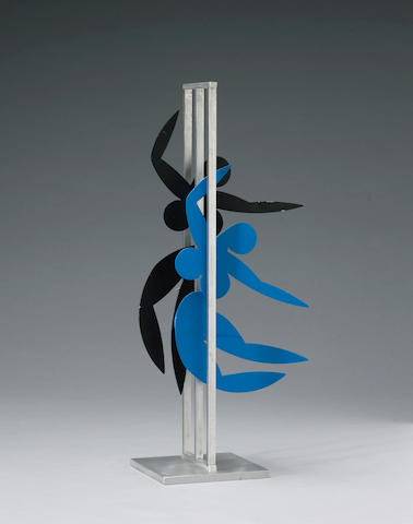 Jerome Kirk (American, born 1923) Untitled (Two Kinetic Figures), 1985 height 25 1/2in (64cm)