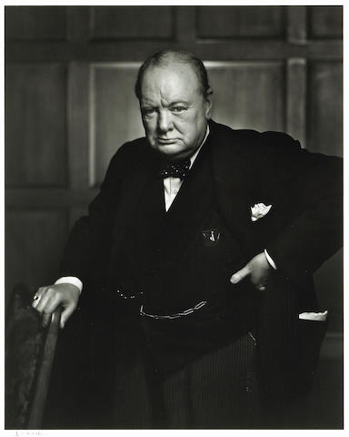 Yousuf Karsh (Canadian, 1908-2002); Sir Winston Churchill;