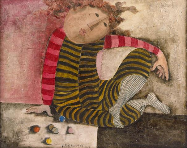 Graciela Rodo Boulanger (Bolivian, born 1935) Jeu de billes, 1975 26 x 31 1/2in (66 x 80cm)