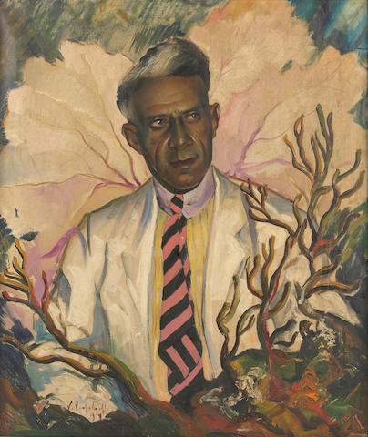 Vladimir Perfilieff (Russian/American, 1895-1943) Portrait of Francois Duvalier (Popa Doc)