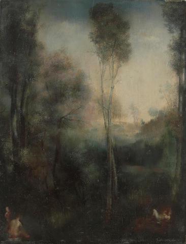 Grigory Gluckmann (Russian/American, 1898-1973) Paysage 13 3/4 x 10 5/8in (35 x 27cm)