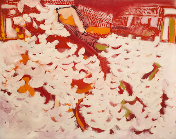 Ralph Du Casse (American, 1916-2003) Red Water, 1957