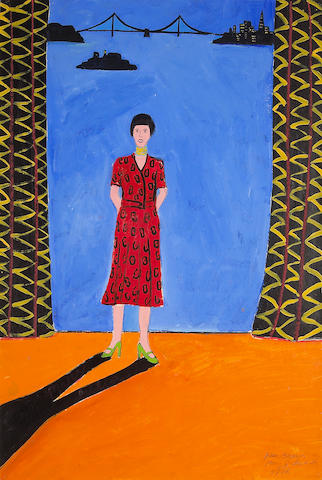 Joan Brown (American, 1938-1991) Mary Julia #26, 1976 36 x 24 1/4in (91 x 61cm)