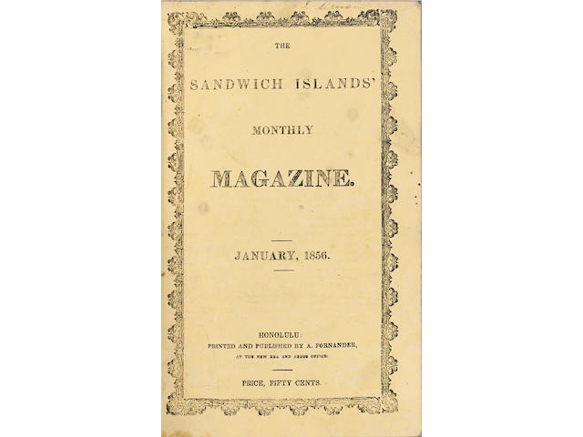 [SANDWICH ISLANDS MAGAZINE.]