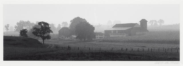 (n/a) George Tice (American, born 1938); Farm in Mist, Lancaster, PA;