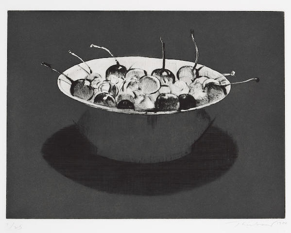 Wayne Thiebaud (American, born 1920); Dark Cherries;