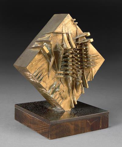Arnaldo Pomodoro (Italian, born 1926) Untitled, 1975 7 5/16 x 6 5/16 x 6 5/16in (18.5 x 16 x 16cm)
