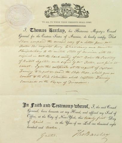 [FANNING, EDMUND.  1769-1841.]