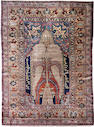 A silk Heriz rug Northwest Persia size approximately 4ft. 8in. x 6ft. 1in.