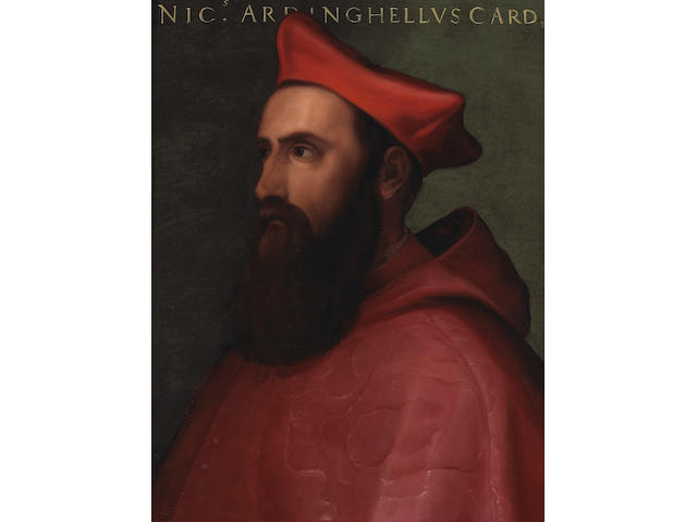 Manner of Sebastiano del Piombo A portrait of Niccolo Ardinghelli 26 x 20in