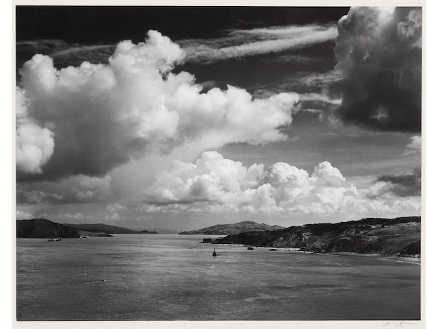 Ansel Adams (American, 1902-1984); The Golden Gate before the Bridge, San Francisco, California;