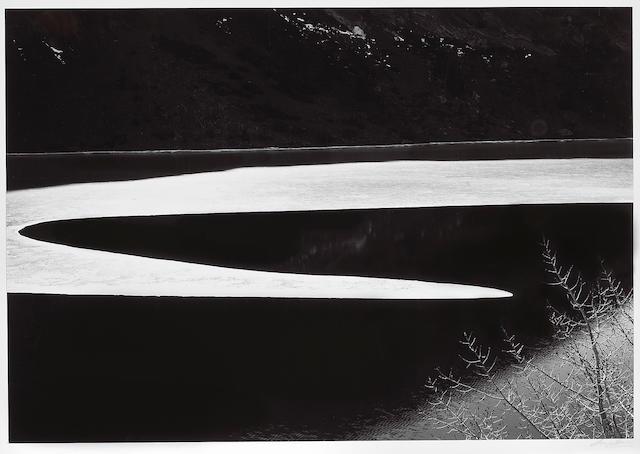 Ansel Adams (American, 1902-1984); Ice on Ellery Lake, Sierra Nevada, California;