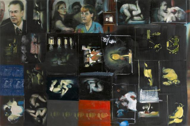 (n/a) Elio Victores (Cuban, born 1976) Untitled 38 1/2 x 58 1/4in unframed