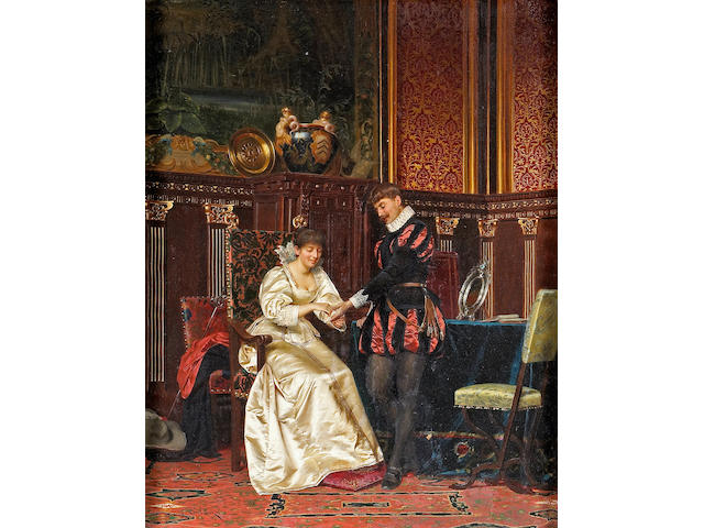 (n/a) Frédéric Soulacroix (French, 1858-1933) Is love in the future? 34 x 26 3/4in (86.3 x 68cm)