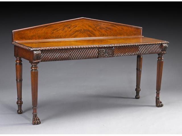 A Regency mahogany serving table, early 19th century
