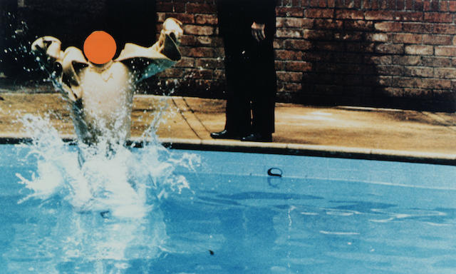 John Baldessari (American, born 1931) Ascension (Orange) with Pool and Onlooker, 1997 10 3/4 x 17 3/4in (27 x 45cm)